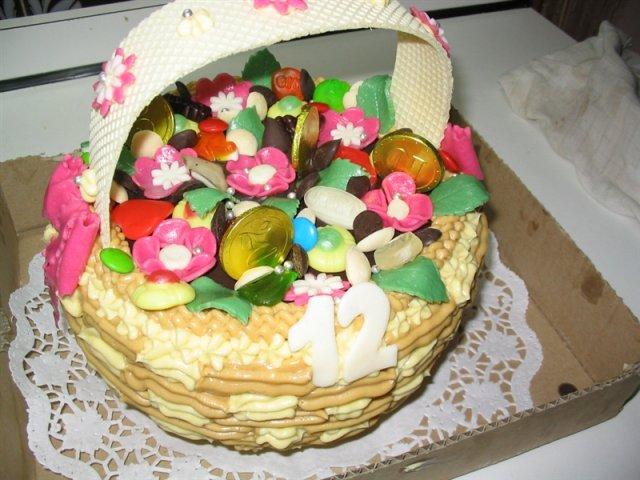 Svatební dorty - košíček