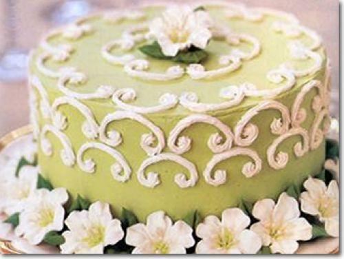 Svatební dorty - kulatý marcipan
