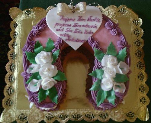Svatební dorty - podkova