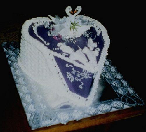 Svatební dorty - neobvykle srdce