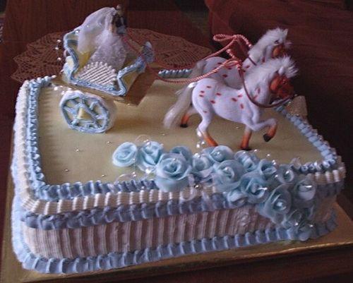Svatební dorty - svatební kočár