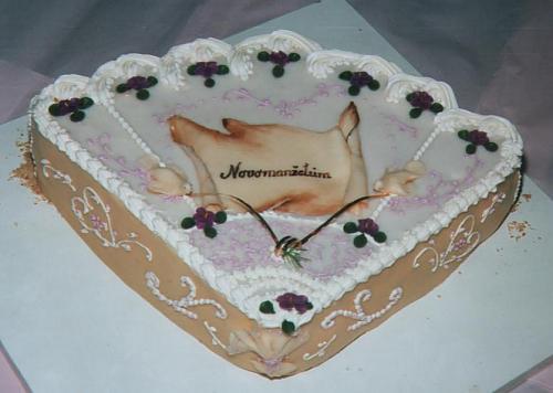 Svatební dorty - vějíř