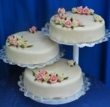 Svatební dorty - třídílný