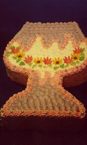 Svatební dorty - dort číše