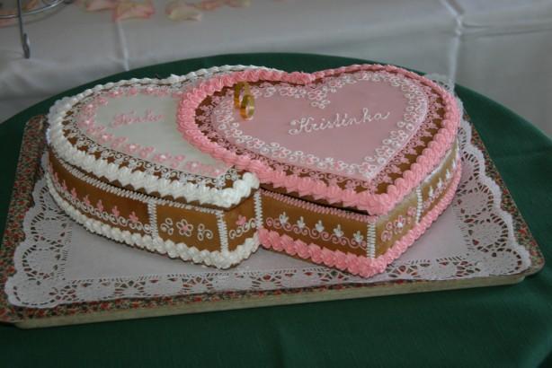 Svatební dorty - dvojsrdce