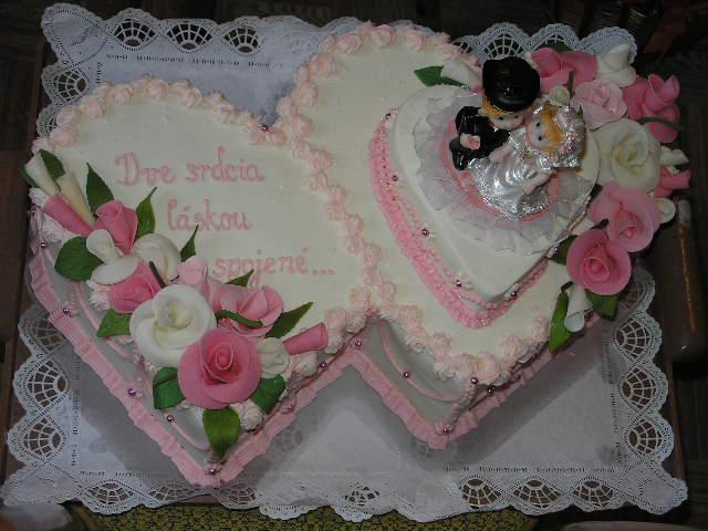 Svatební dorty - dvojdort
