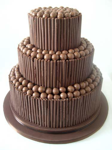 Svatební dorty album č. 2 - cokoladovy