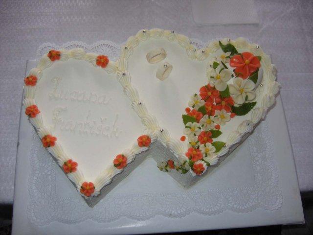 Svatební dorty album č. 2 - dvojsrdce