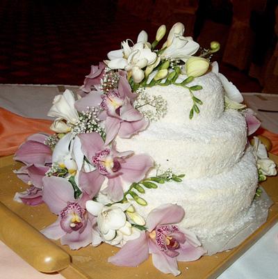 Svatební dorty album č. 2 - Dort s živou kytkou