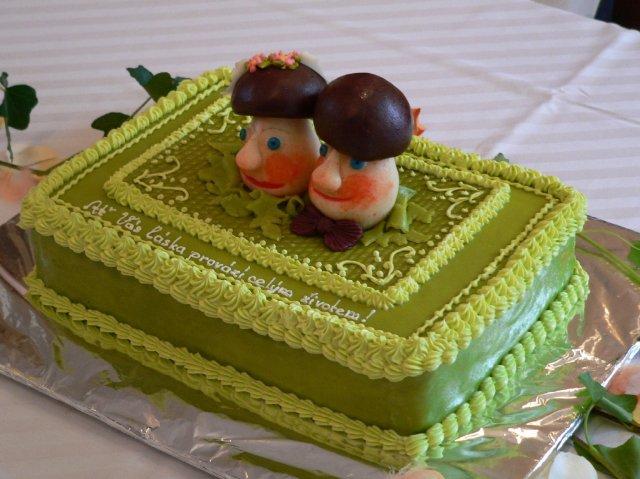 Svatební dorty album č. 2 - houbičky :-)