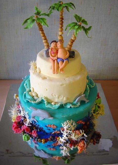 Svatební dorty album č. 2 - tropy
