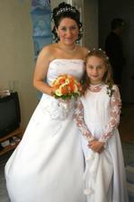 já a moje družička...moje nejmladší sestřička Deniska
