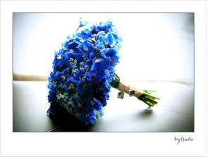 hortenzie sú aj tak do modra,takže jediné tyrkysové kvety sú farbené chryzantémy :D
