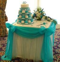 Prípravy na 2.5.2009 Janka a Ondrej - Takyto stol z hlavnou tortou sa mi velmi paci