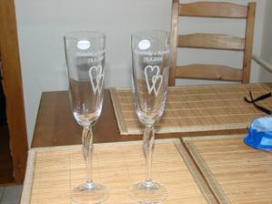 naše svatební skleničky - již v originále