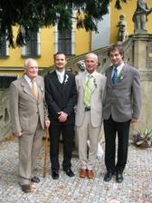 s dědečkem, tatínkem a bratránkem..