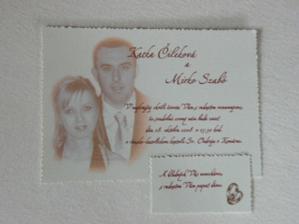nase svadobne oznamenie aj s pozivacou kartickou