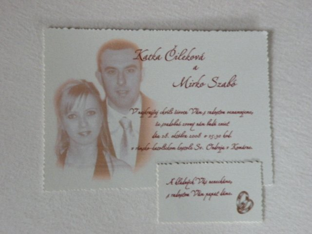 Katka + Mirko / nasa svadobna priprava - nase svadobne oznamenie aj s pozivacou kartickou