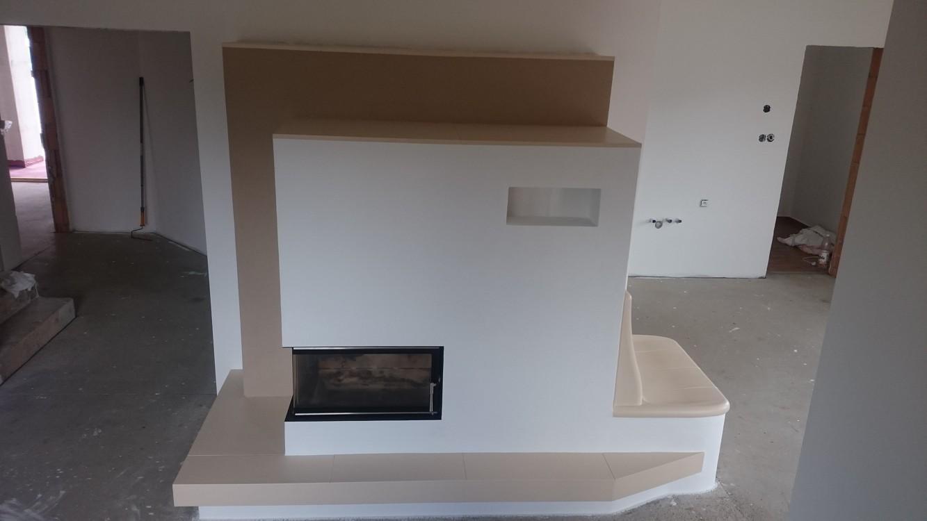 ekowarm - Hypokaustová pec,ohnisko Ortner SE9-70/40/38,váha ohniska 385,akumulačná masa KMS 414 kg