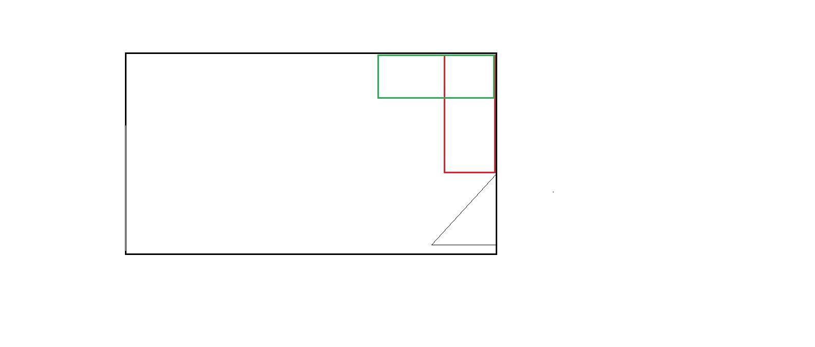 Ahoj holky, pomalu začínáme přemýšlet nad rozvržením pokoje pro hosty. Původně byl pokoj dělaný přímo na určité rozvržení nábytku. Bohužel to jsme nuceni změnit. Takže vás poprosím o názor, jak by jste umístily skříně. Ty budou hluboké 60cm a široké 150 cm... červená nebo zelená varianta...? :-) Moc děkuji ♥ (Ještě zvažuji červenou variantu s tím, že by skříň byla široká jen 100cm, ale úložné prostory se vždy hodí :-D) - Obrázek č. 1