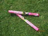 Ružové konfety 2ks 60cm,