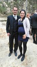 Včerejší svatba..:-) a už se pěkně kulatím, ještě dva měsíce a budeme tři...:-)