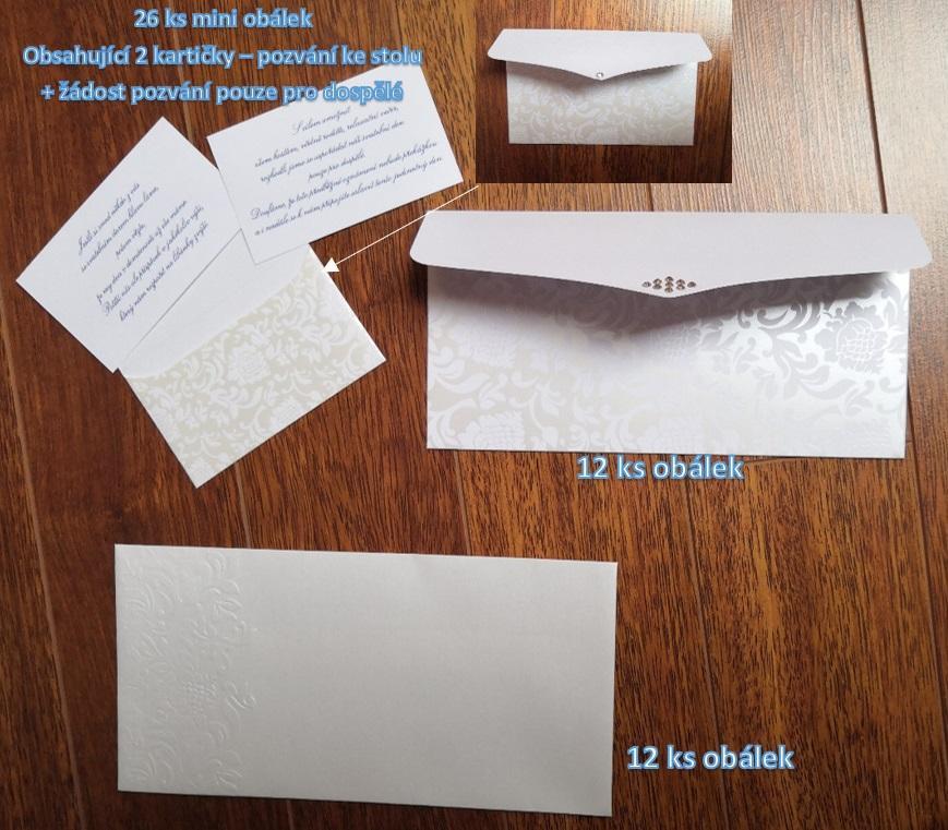 svatební obálky, oznámení - Obrázek č. 1