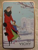 Vichy Plechová krabička-dóza,