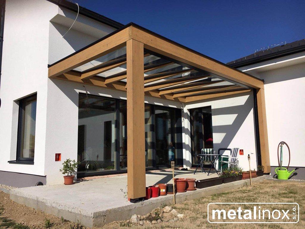 metalinox - Drevený prístrešok Modern s krytinou sklo