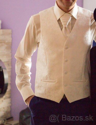 Svadobná košela+vesta+kravata - Obrázok č. 1