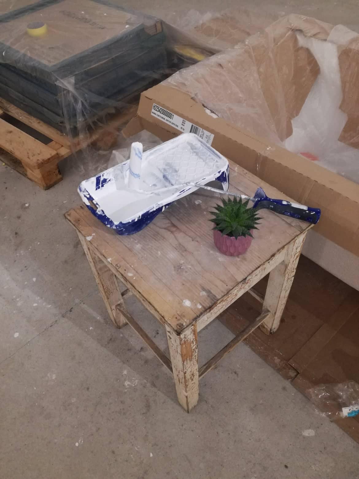 Ten NÁŠ, vysnívaný 💓 - Maľujeme.... a prvá kvetinka v domčeku :)