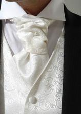 zenich - cerny oblek + bila kosile, vesta i vazanka