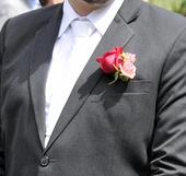bílá kravata ,