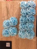 Pěnová růže světle modrá,