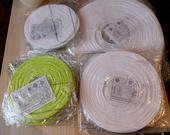 lampionky bílé a zelené - různé velikosti,