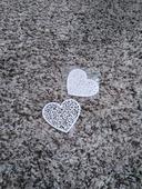 papírová srdce,