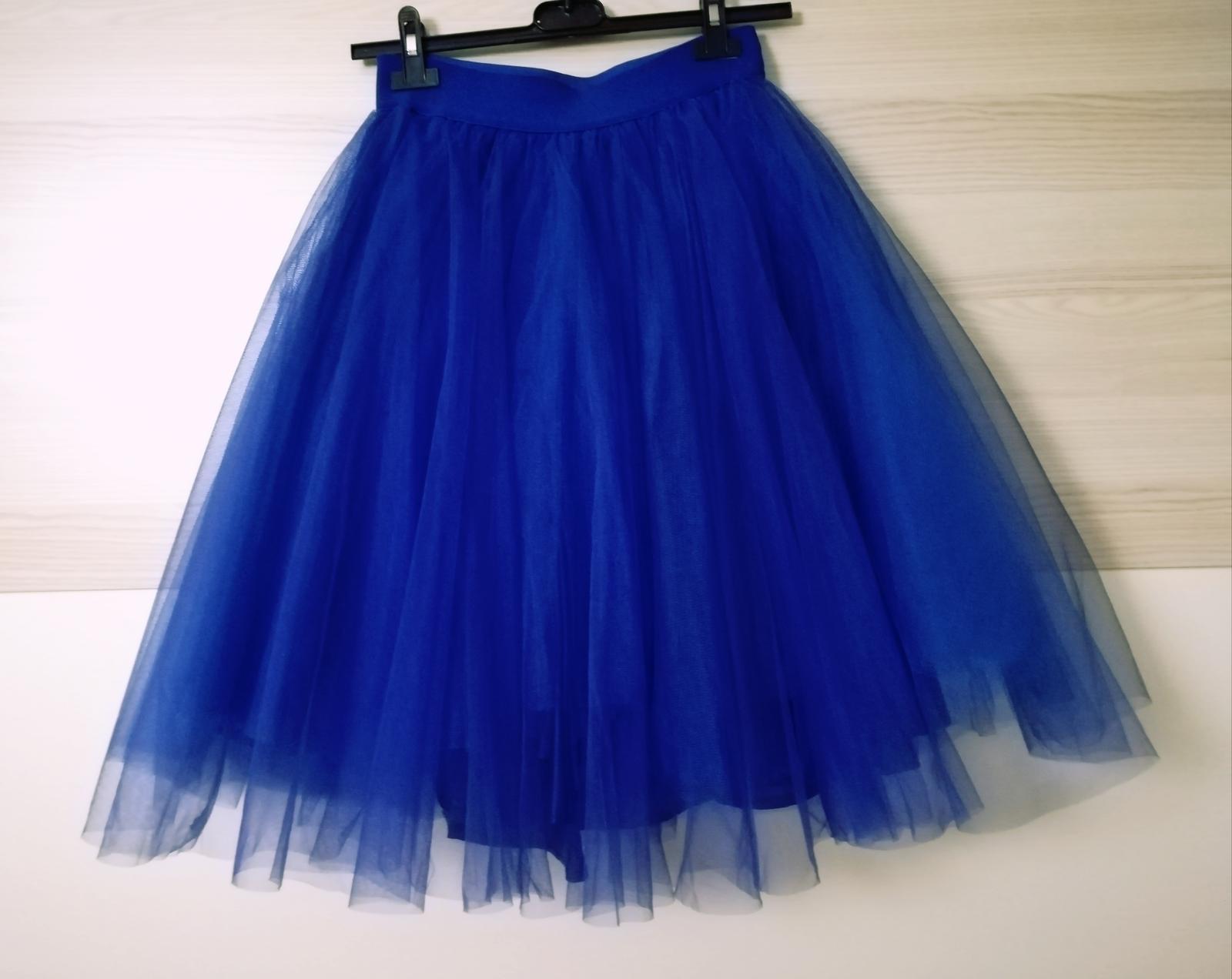 Tylova modrá sukňa  - Obrázok č. 1
