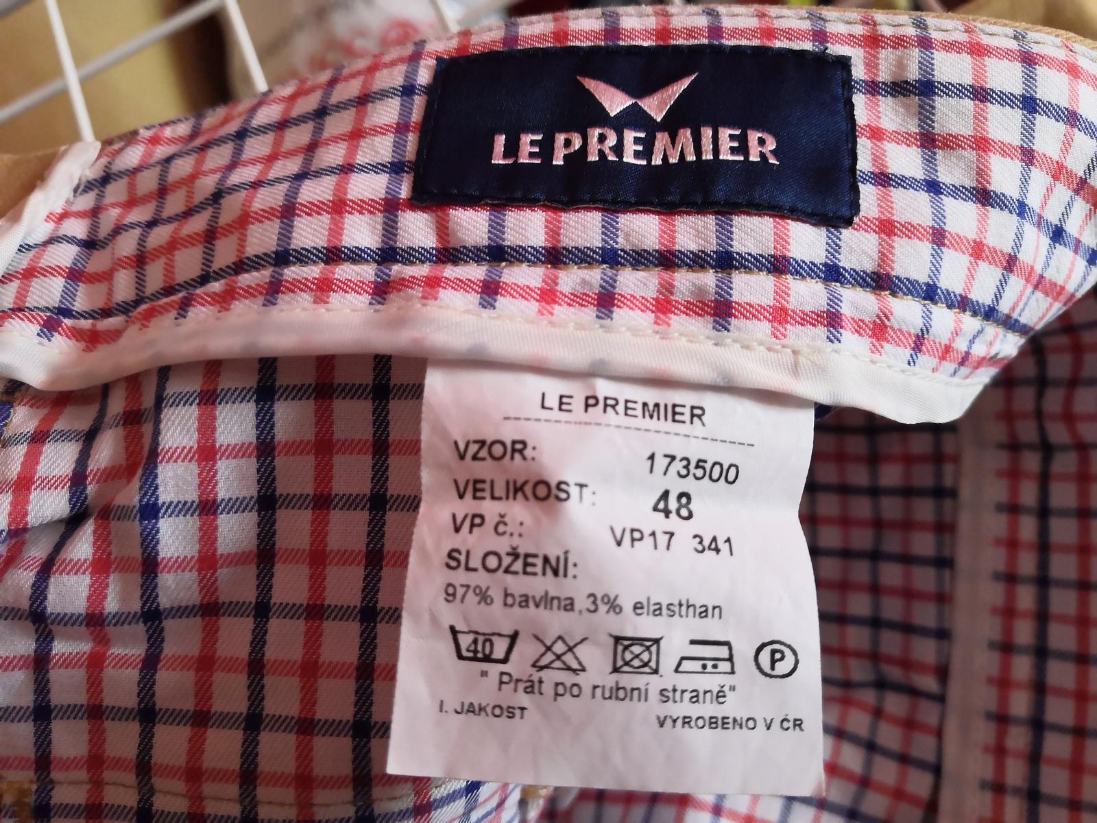pánské chinos kalhoty vel. 48 zn. le premier - Obrázek č. 3