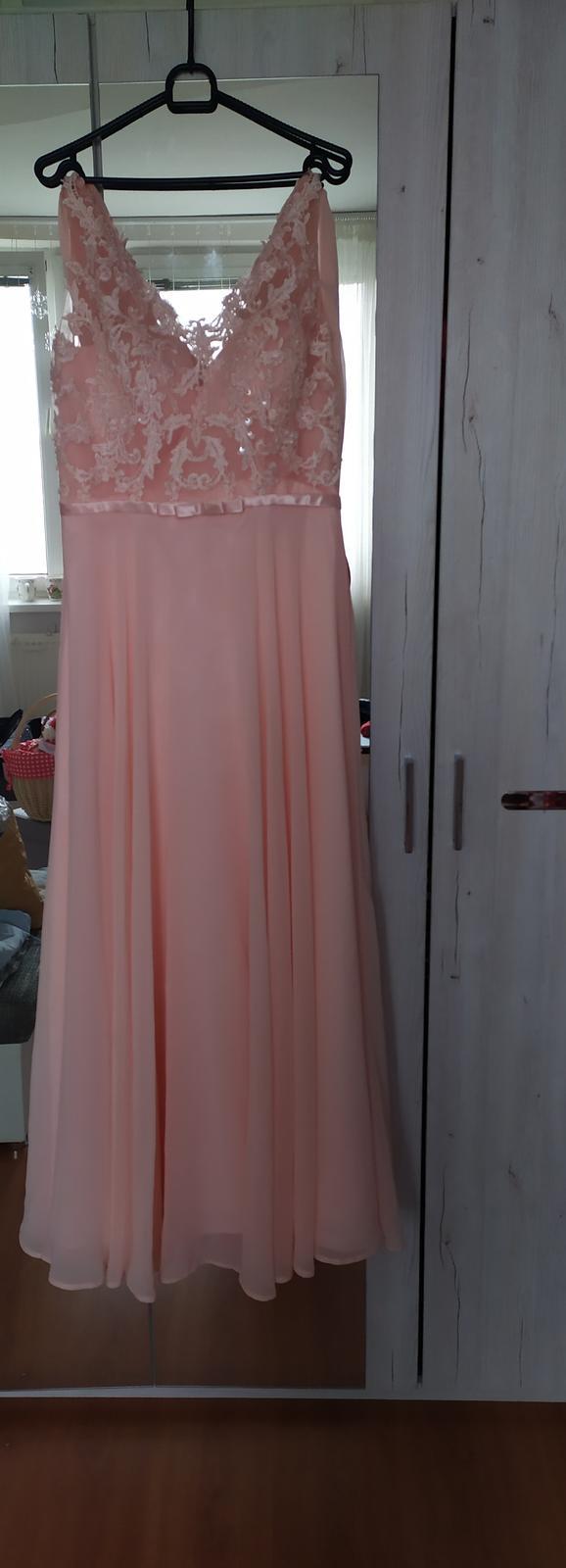 Ružové spoločenské aj popolnocne šaty  - Obrázok č. 1