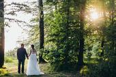 Svatební šaty - body + sukně s vlečkou, 38