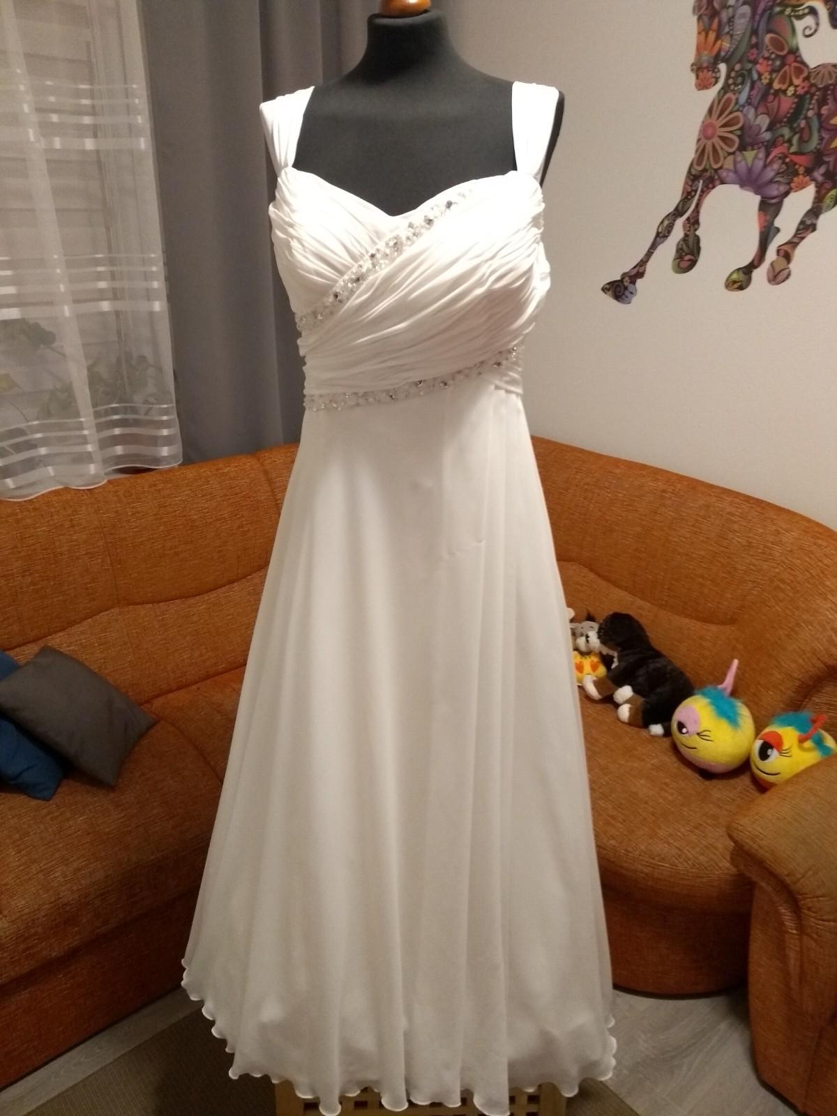 Svadobné šaty smotanové - Obrázok č. 1