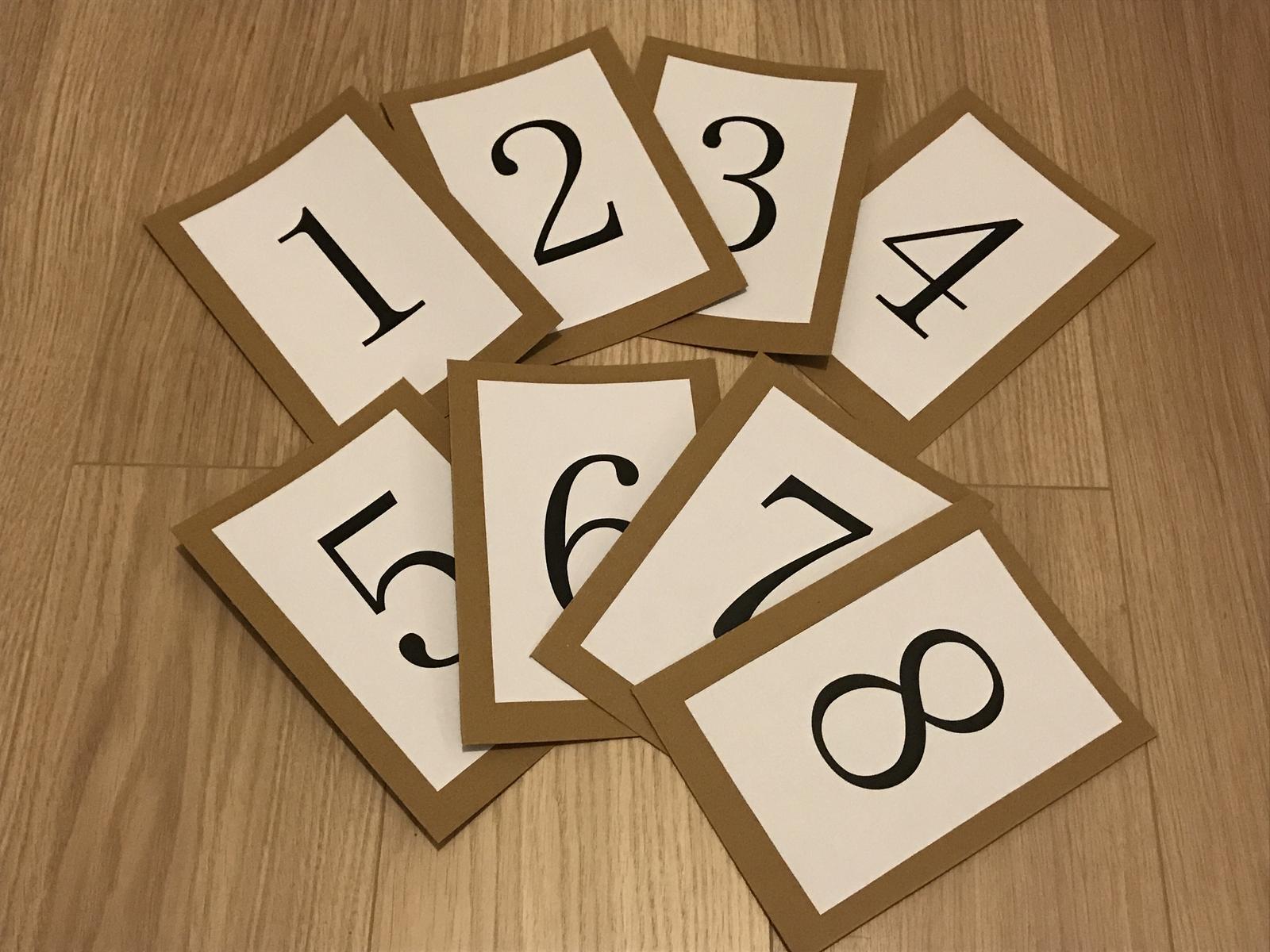 Čísla na stoly - Obrázek č. 1