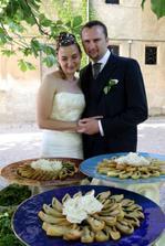 Jeden z pokrmu ze svatebního menu.