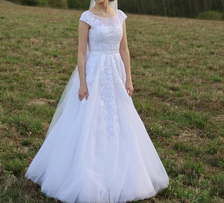 Svadobné šaty veľkosť 34/36 - Obrázok č. 2
