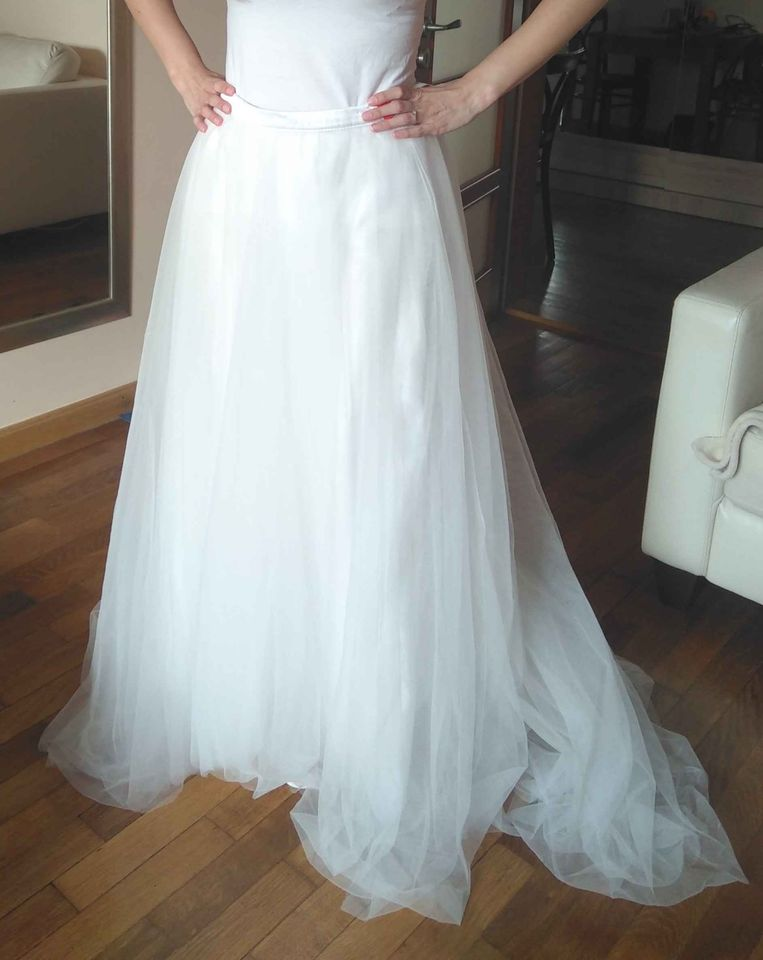 Tylová sukně bílá, vel. M - Obrázek č. 1