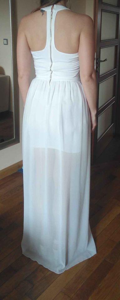 Bílé popůlnoční šaty vel. 34/36 - Obrázek č. 1