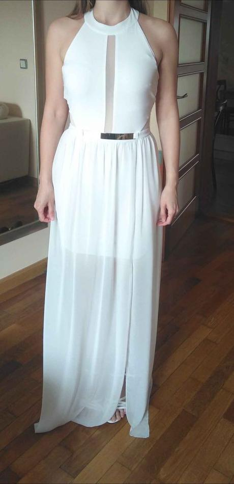 Bílé popůlnoční šaty vel. 34/36 - Obrázek č. 2