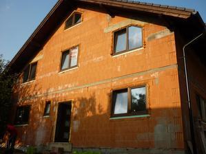 západ slnka na našom domčeku