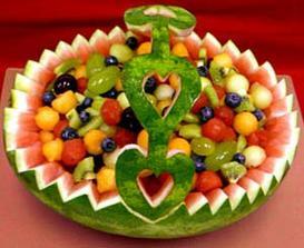 určite vyrezávané ovocie