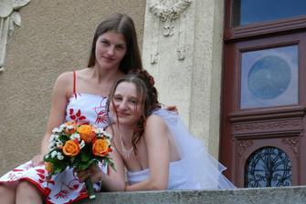 S moji sestřičkou a zároveň s mým svědkem :)